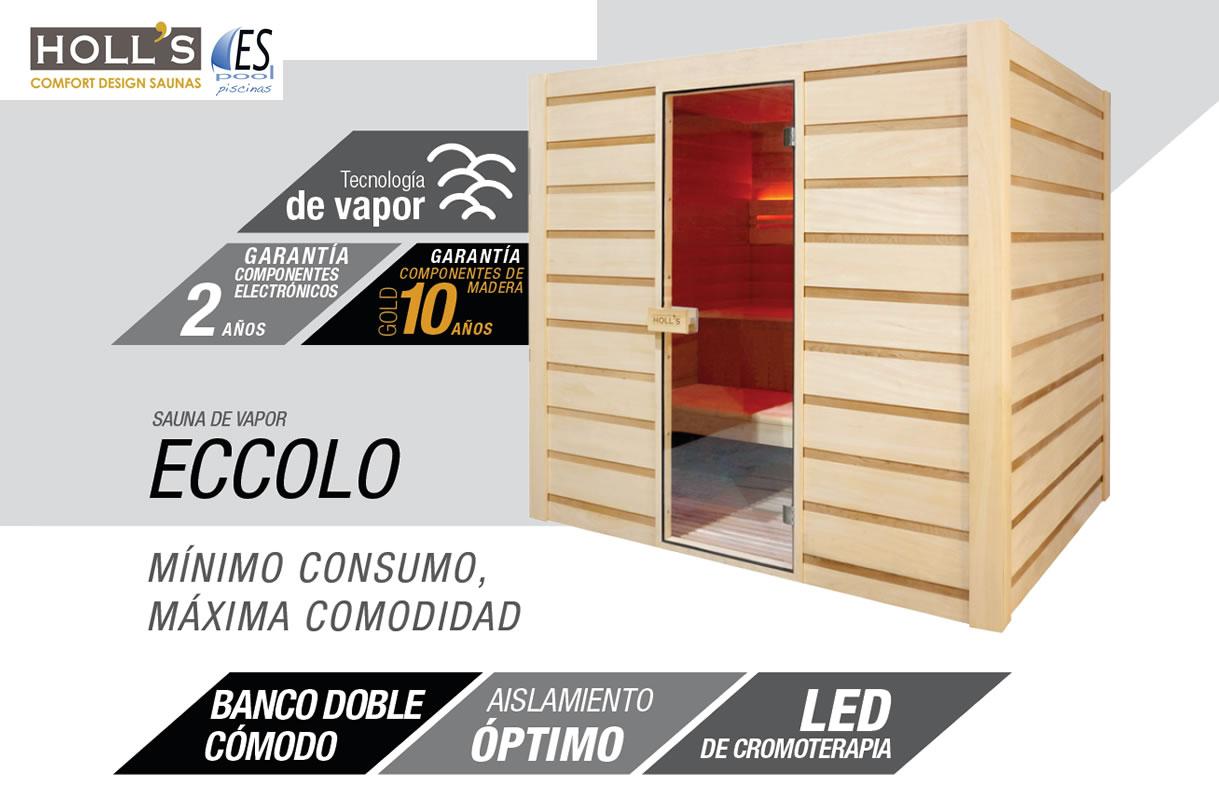 Modelos de baños y saunas de vapor Holl´s. De venta en Espool Piscinas, Guadalajara.