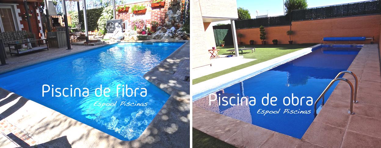 Instalación de piscinas de obra y de fibra en Guadalajara - Pide presupuesto a Espool Piscinas