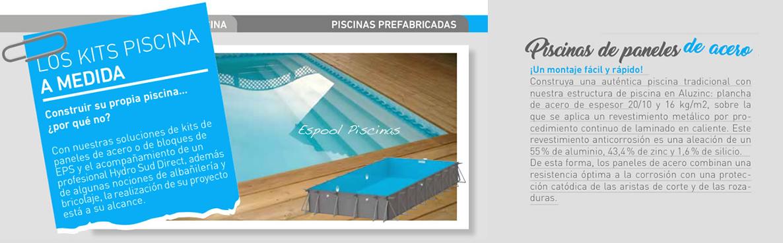 Instalación de piscinas de paneles de acero en Espool Piscinas.
