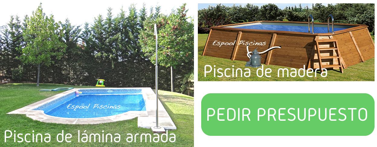 Instalación de piscinas de lámina armada y madera en Guadalajara - Pide presupuesto a Espool Piscinas