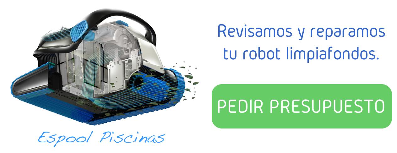 Revisión y reparación de robots limpiafondos en Espool Piscinas, Guadalajara y provincia.