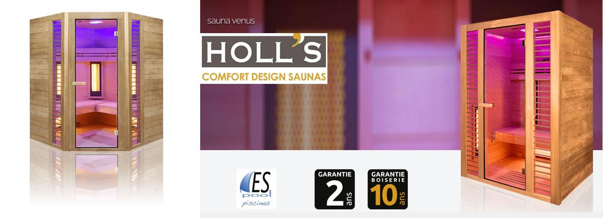 Venta de sauna holl´s en Espool Piscinas, Guadalajara. Comprar sauna de infrarrojos Holls en Espool Pisicinas