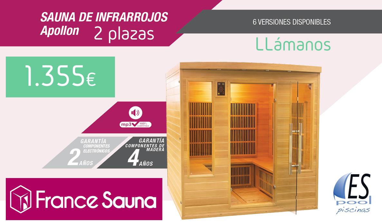 Venta de sauna de infrarrojos Apollon de France Sauna en Espool Piscinas, Guadalajara