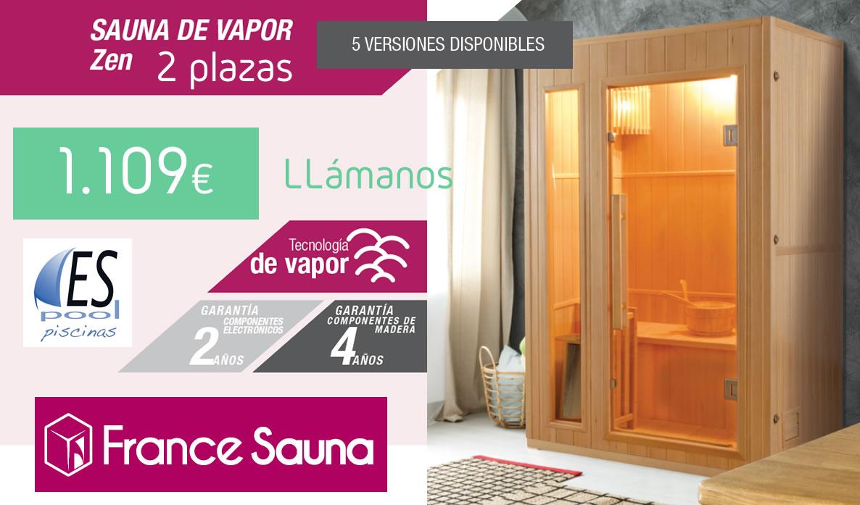 Comprar sauna de infrarrojos Zen de France Sauna en Espool Piscinas, Guadalajara