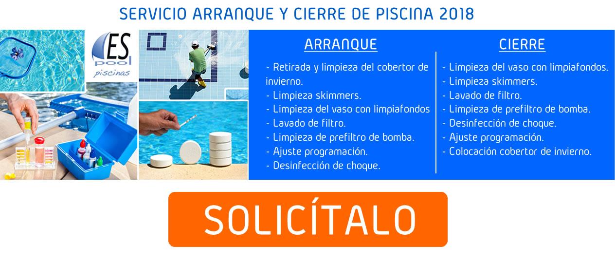 Servicio de arranque y cierre de piscina 2018 - Espool Piscinas