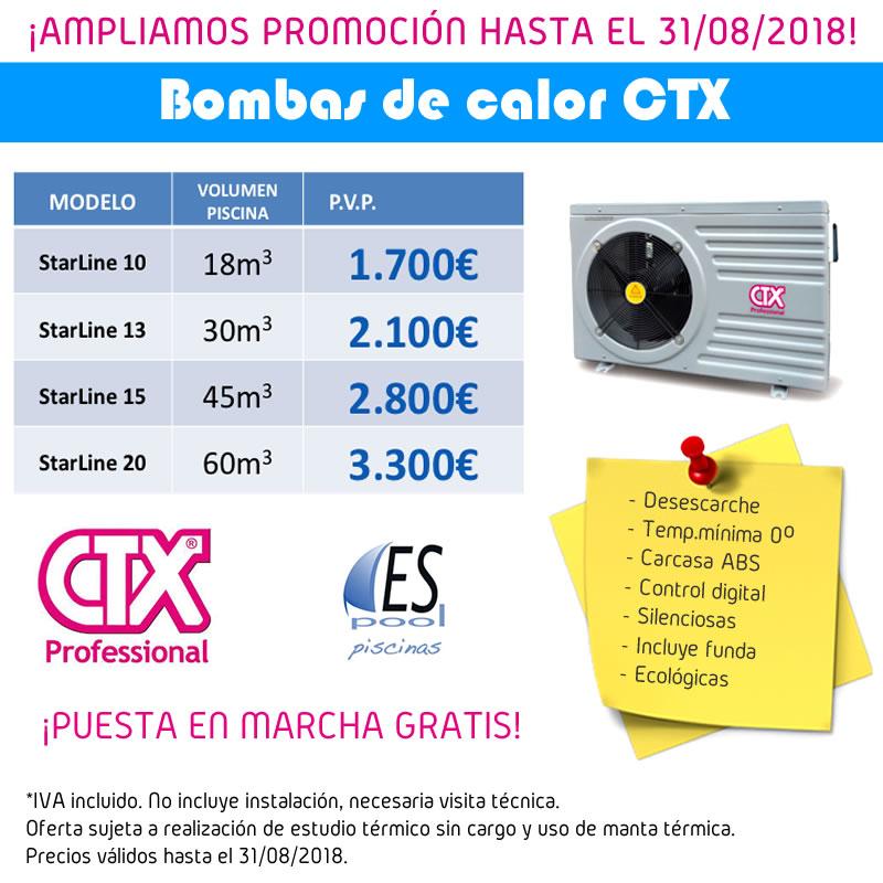 Promoción bombas de calor CTX Professional en Espool Piscinas.