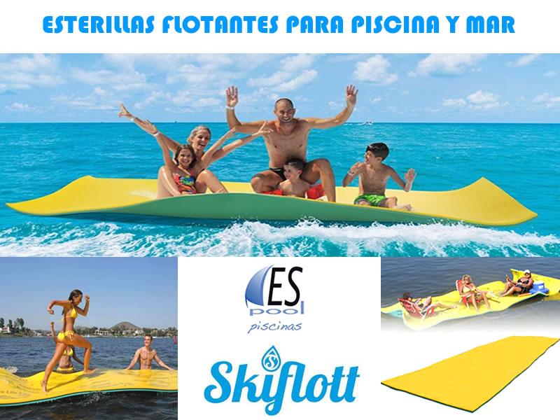 Esterillas flotantes Skiflott, para la piscina y el mar. De venta en Espool Piscinas.