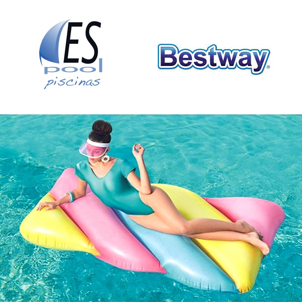 Colchoneta inflable gigante Candy Lounge BESTWAY 190 x 105 cm