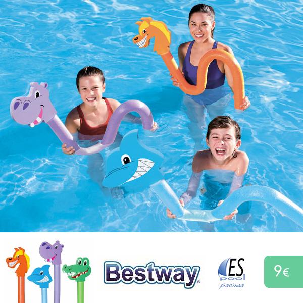 Barra flotante Bestway para piscina. Aprende a nadar con ellas. De venta en Espool Piscinas, Guadalajara.
