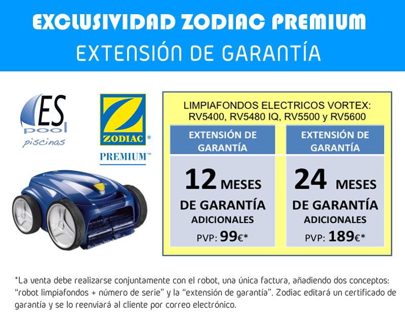 Extensión garantía robot limpiafondos Zodiac. De venta en Espool Piscinas, Guadalajara.