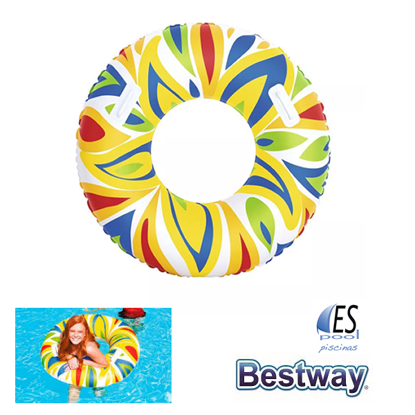 Flotador hinchable piscina multicolor, marca Bestway. De venta en Espool Piscinas, Guadalajara.