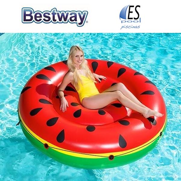Flotador hinchable piscina sandía, marca Bestway. De venta en Espool Piscinas, Guadalajara.