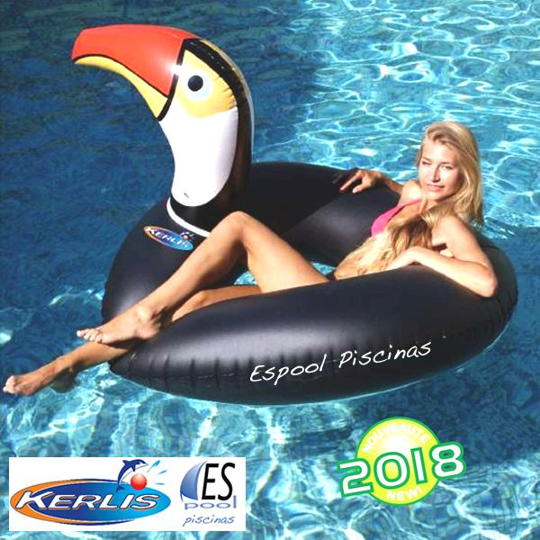 Flotador hinchable piscina tucán, marca Bestway. De venta en Espool Piscinas, Guadalajara.