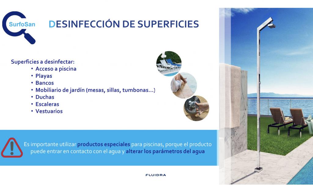 SurfoSan (CTX 70) de Certikin es la nueva Gama Desinfección Superficies de Piscina. - De venta en Espool Piscinas